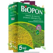 Добриво для газону проти пожовтіння трави 5кг ТМ Biopon